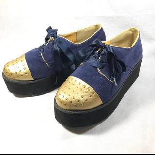 厚底シューズ(ローファー/革靴)