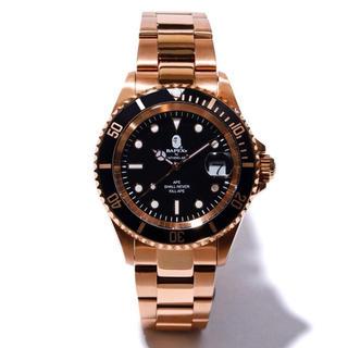 アベイシングエイプ(A BATHING APE)の新品 BAPE 19AW TYPE 1 BAPEX ピンクゴールド(腕時計(アナログ))