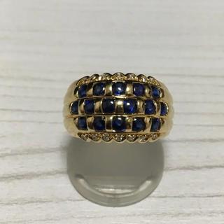 サファイア ゴールドリング 12号 K18(リング(指輪))