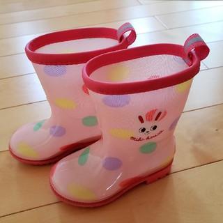 ミキハウス(mikihouse)のミキハウスの女の子用の長靴(レインブーツ) 13センチ(長靴/レインシューズ)