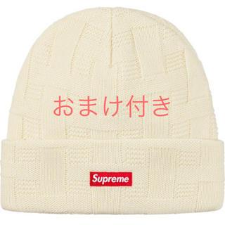 シュプリーム(Supreme)のSupreme Basket Weave Beanie Natural ビーニー(ニット帽/ビーニー)