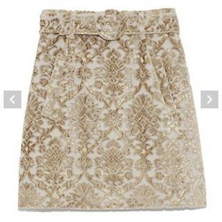 リリーブラウン(Lily Brown)の売切希望 リリーブラウン パイルジャガードスカート(ミニスカート)