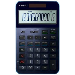 カシオ(CASIO)の品薄人気カシオCASIOプレミアム高級電卓 S100BU(ネイビーブルー)(オフィス用品一般)