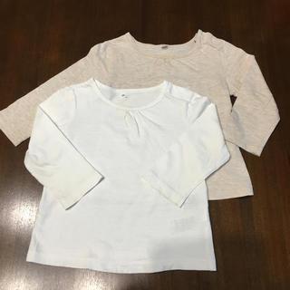 ムジルシリョウヒン(MUJI (無印良品))の無印良品 長袖 80cm  2枚(シャツ/カットソー)