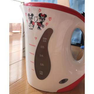 ディズニー(Disney)の未使用品*ディズニー(ミッキー&ミニー)電気ケトル 0.6L(電気ケトル)