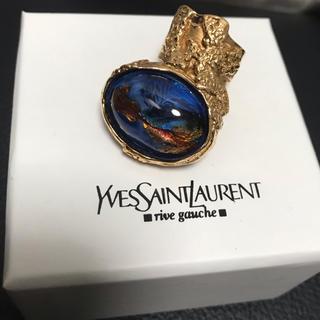 サンローラン(Saint Laurent)のYSL  廃盤アーティーリング ゴールド×ブルー(リング(指輪))