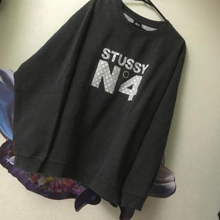 ステューシー(STUSSY)のステューシー  ★モノグラム 総柄 ★裏起毛 トレーナー(スウェット)