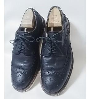 リーガル(REGAL)の 絶対王道UKデザイン!名門リーガル高級ウィングチップローファー人気黒26   (ドレス/ビジネス)