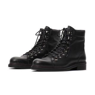 テットオム(TETE HOMME)の新品 テットオム レースアップレザーブーツ L 26.0 27.0 黒 ブラック(ブーツ)