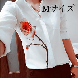 シフォン♡ブラウス Mサイズ(シャツ/ブラウス(長袖/七分))
