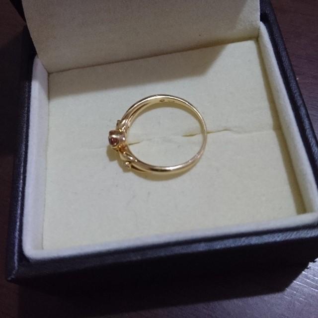 k18☆インペリアルトパーズ ダイヤ リング レディースのアクセサリー(リング(指輪))の商品写真