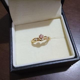 k18☆インペリアルトパーズ ダイヤ リング(リング(指輪))