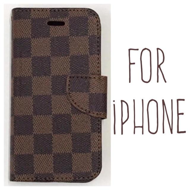 iphone 8 ケース ガラス - 送料無料 茶 iPhoneケース iPhone8 7 plus 6 6s 手帳型の通販
