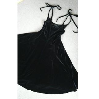G.V.G.V. - G.V.G.V. ジーヴィジーヴィ Velour bow knot dress
