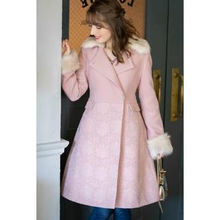 トッコ(tocco)の新品♡トッコクローゼット ウエストリボン付きピンク ファーコート (毛皮/ファーコート)