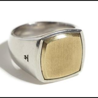 マルタンマルジェラ(Maison Martin Margiela)のTOMWOOD トムウッド R74HNNA  Cushion Gold Top(リング(指輪))