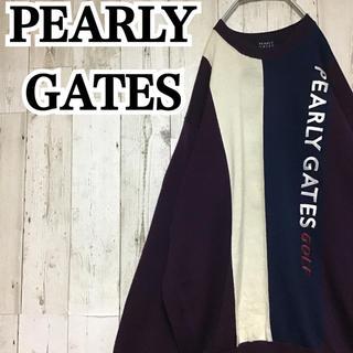 パーリーゲイツ(PEARLY GATES)の【パーリーゲイツ】【ビッグロゴ刺繍】【ビッグシルエット】【ニット/セーター】(ニット/セーター)