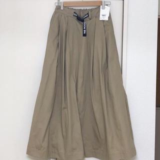 ロデオクラウンズワイドボウル(RODEO CROWNS WIDE BOWL)の新品 ロデオクラウンズ  ベージュ ロングスカート Sサイズ(ロングスカート)