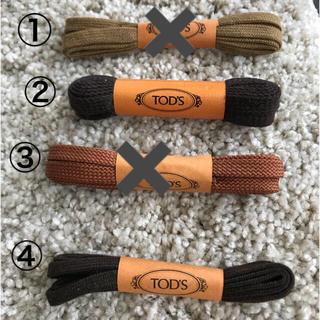 トッズ(TOD'S)の新品 メンズトッズ スニーカー靴紐 ② ④(スニーカー)