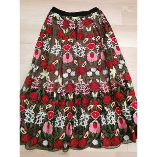 チェスティ(Chesty)の新品タグ付き🍀チェスティ刺繍スカート size0(ロングスカート)