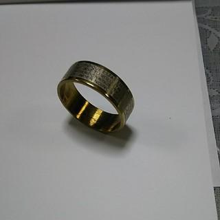 指輪(十字架のデザイン)とネックレス(金メッキ)のセット(リング(指輪))