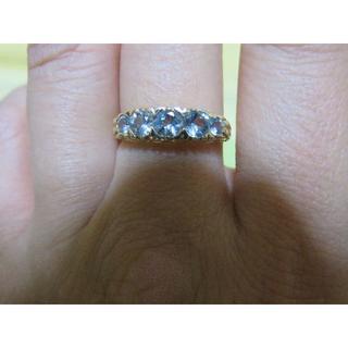 イギリス アンティーク ブルートパーズリング(リング(指輪))