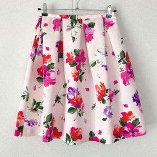 チェスティ(Chesty)のチェスティ ♡ ピンクフラワースカート(ひざ丈スカート)