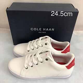 コールハーン(Cole Haan)の未使用 コールハーン スニーカー COLE HAAN 赤 24.5cm(スニーカー)