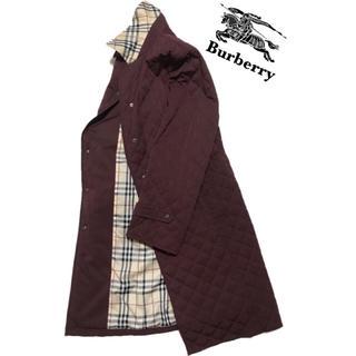 バーバリー(BURBERRY)のバーバリー ロンドン キルティングジャケット コート ボルドーカラー(ロングコート)