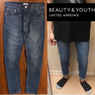 BEAUTY&YOUTH UNITED ARROWS - BEAUTY&YOUTHスキニーデニムダメージジーンズメンズ送料込