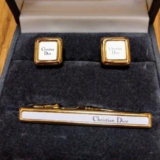 クリスチャンディオール(Christian Dior)のディオール タイピング カフスセット(ネクタイピン)