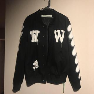 オフホワイト(OFF-WHITE)のoffwhite  正規品 Signature Stadium Jacket (スタジャン)