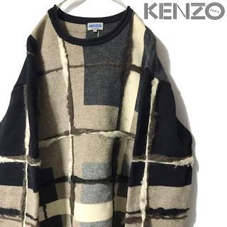 Yohji Yamamoto - KENZO   個性派切りっぱなしニット