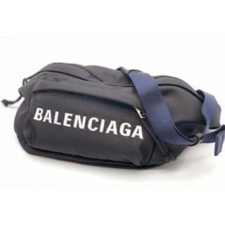バレンシアガ(Balenciaga)のBALENCIAGA ロゴ刺繍ナイロン ショルダーバッグポーチ(ショルダーバッグ)