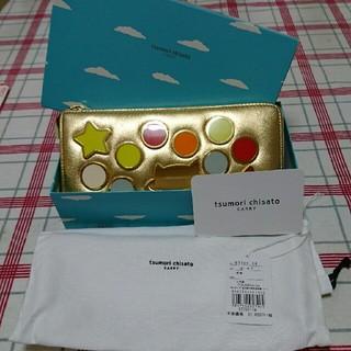 ツモリチサト(TSUMORI CHISATO)のツモリチサト ゴールド猫柄 長財布(財布)