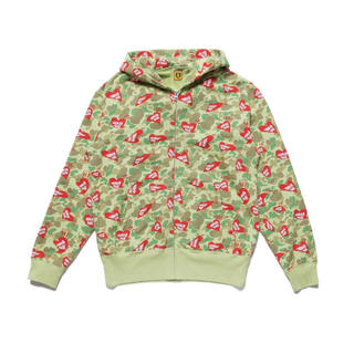 アベイシングエイプ(A BATHING APE)のHUMAN MADE HEART CAMO ZIP HOODIE XL(パーカー)