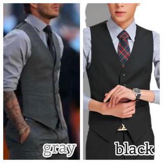 スーツ ベスト メンズ フォーマル XS S M L XL 黒 グレー 高品質
