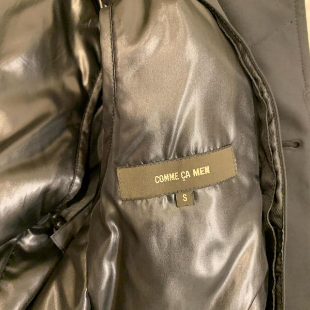 COMME CA MEN(コムサメン)のコムサメン ステンカラーコート ブラック メンズのジャケット/アウター(ステンカラーコート)の商品写真