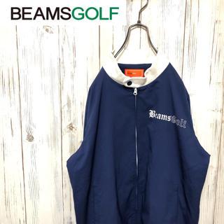ビームス(BEAMS)の【希少】ビームスゴルフ ロゴプリント入り ジップアップブルゾン Lサイズ(ウエア)