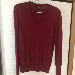 ユニクロ(UNIQLO)のUNIQLO  XLsizeメリノウールVネックセーター  (ニット/セーター)