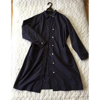 ムジルシリョウヒン(MUJI (無印良品))の無印良品  ネイビー薄手コート、Lサイズ、コットン(チェスターコート)