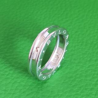 ブルガリ(BVLGARI)のブルガリ ビーゼロワン リング B-ZERO1 1band #50 指輪 K18(リング(指輪))