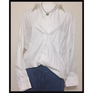 ティティベイト(titivate)の【titivate】白シャツボタンシャツゆるシルエットカフスブラウス ワイシャツ(シャツ/ブラウス(長袖/七分))