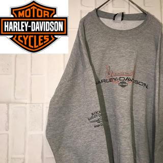 ハーレーダビッドソン(Harley Davidson)の【オススメ】90s ハーレーダビットソン スウェット グレー ビックロゴ(スウェット)