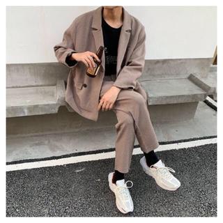 韓国 セットアップ スーツ ブラウン(セットアップ)
