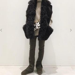 ドゥーズィエムクラス(DEUXIEME CLASSE)のL'Appartement Wool Zip Leggings ブラウン(レギンス/スパッツ)