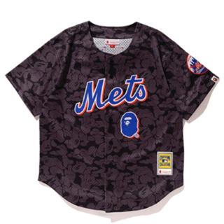 アベイシングエイプ(A BATHING APE)のbape mitchell ness newyork mets 2XLサイズ(Tシャツ/カットソー(半袖/袖なし))