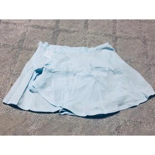 チャコット(CHACOTT)の美品 レオタード バレエ チャコット 巻きスカート ブルー 子供用フリー(ダンス/バレエ)