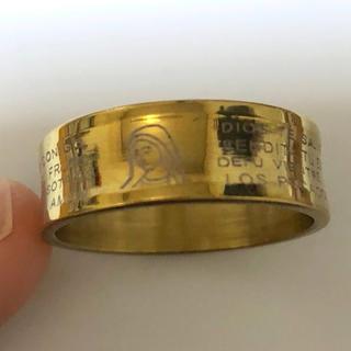 同時購入で300円 ステンレス指輪 マリア ゴールド(リング(指輪))
