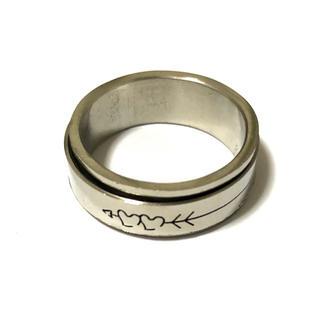 同時購入で300円 ステンレス指輪ハート回転(リング(指輪))